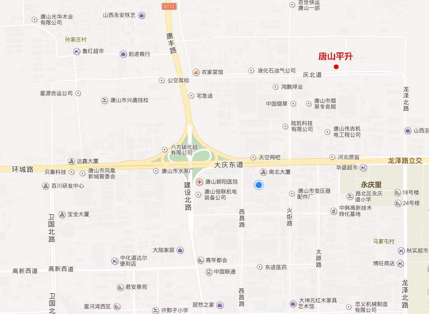 周边交通图—唐山平升电子技术开发有限公司
