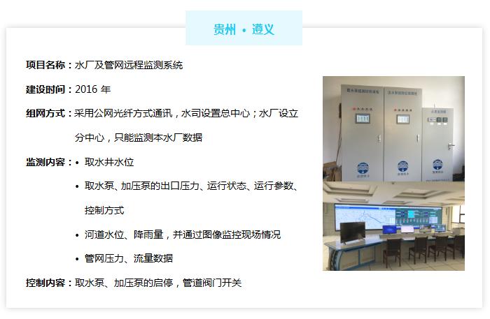 水厂/泵站无人值守系统——贵州遵义案例