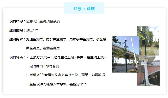 城市道路积水监测预警系统——江苏盐城市案例