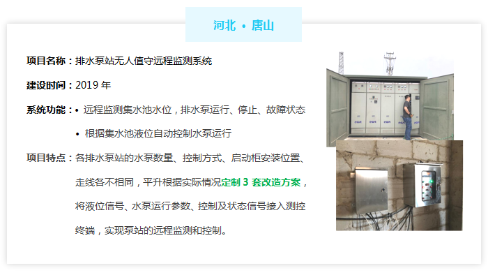 排水泵站无人值守系统——河北唐山市案例