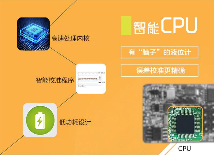 投入式液位计(投入式水位计、投入式液位变送器)智能CPU,高速处理内核、智能校准程序、低功耗设计:有脑子的液位计,误差校准更精确。