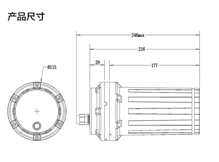 NB-IoT电池供电测控终端RTU,产品尺寸