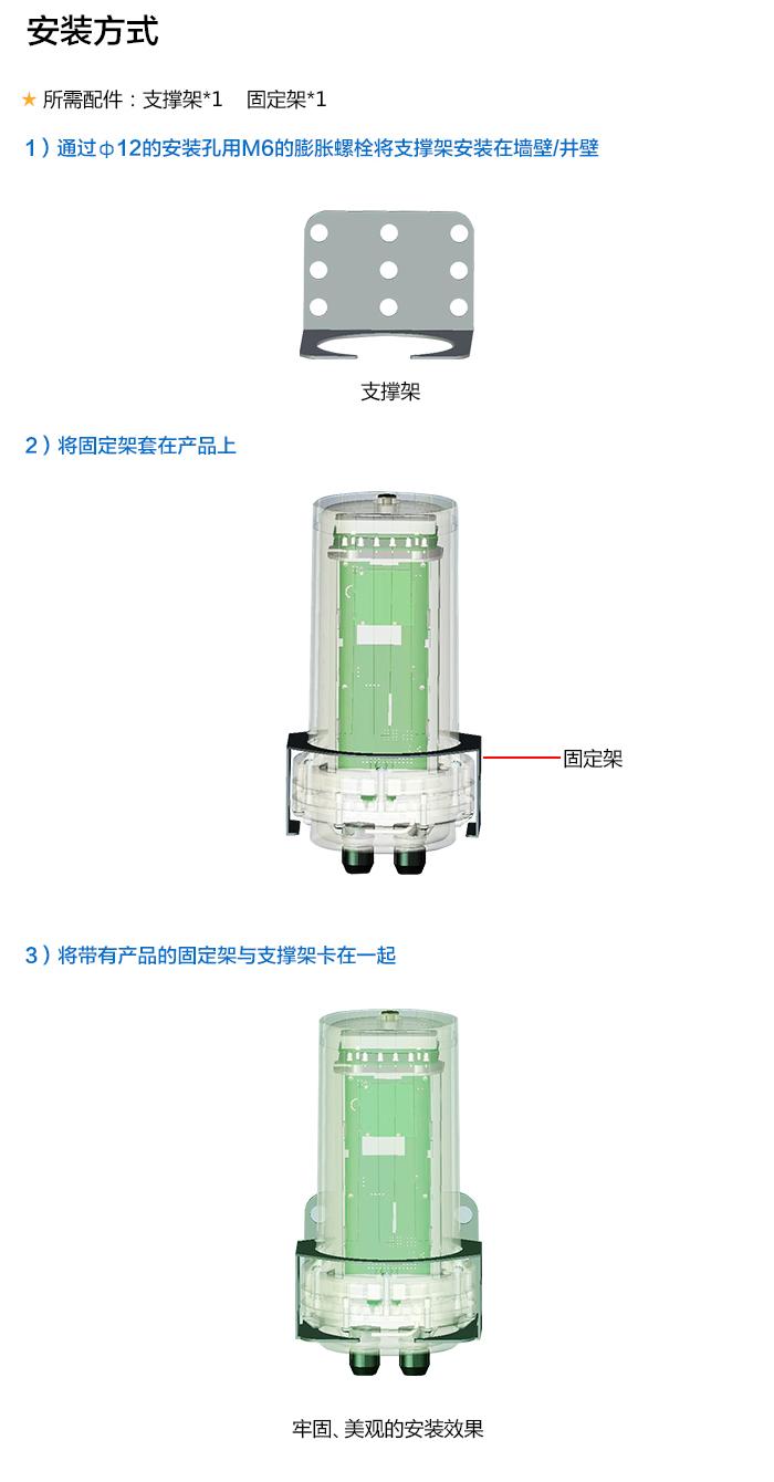 NB-IoT电池供电测控终端RTU,安装方式