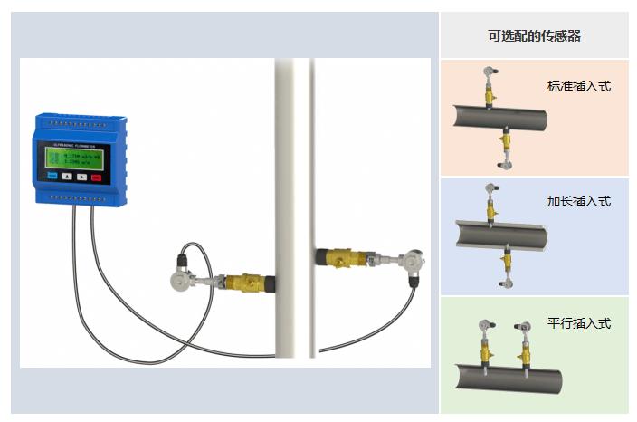 模块插入式超声波流量计——可选配的传感器