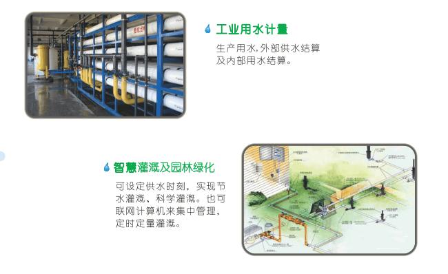 卡片式超声波水表典型应用——工业用水计量、智慧灌溉及园林绿化
