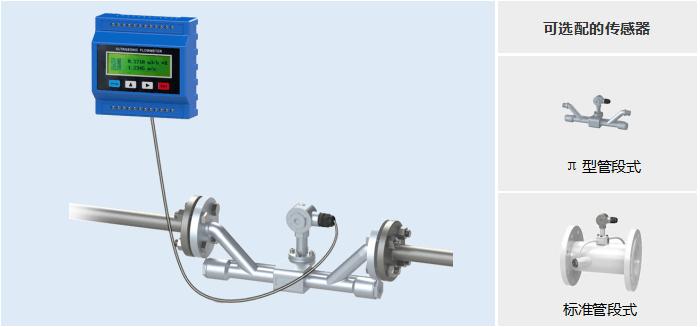 模块管段式超声波流量计——可选配的传感器
