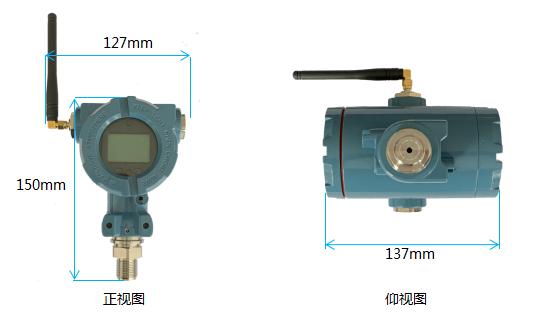 NB無線壓力表產品尺寸