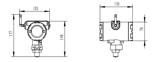 无线液位变送器产品尺寸