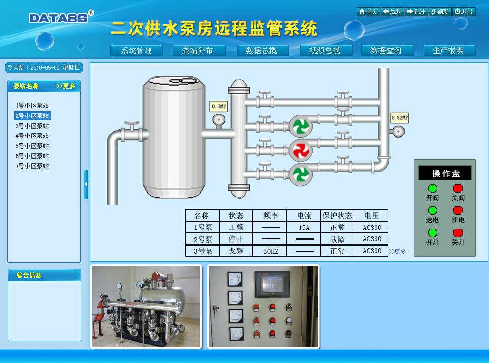 二次供水泵房远程监管系统|二次供水监控系统|小区加压泵站远程监控系统