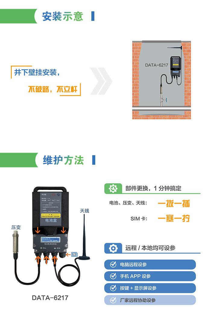 电池供电型管网压力智能监测终端安装示意与维护方法